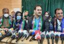 Sanjay Saraf addressing press conference in Srinagar